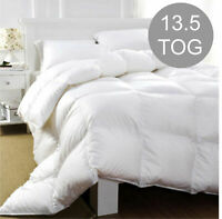 Duck Feather & Down Duvet / Quilt Bedding - All Sizes and 13.5 Tog Available Bed