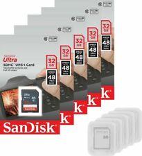 Lot of 5 SanDisk Ultra 32 GB SDHC SDXC Class 10 48MB/s Memory Card SDSDUNB-032G