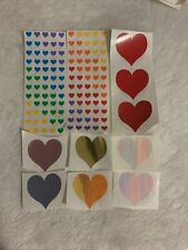 Mrs Grossman's Lot of Vintage RARE 1984 Opal Red Purple Pink Hearts Stickers
