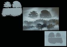 Airbrush Schablonen / Stencil 0607 Bäume und Gräser 1