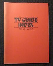 1984 TV GUIDE INDEX Supplement SC FVF 7.0 Triangle Publications 68pgs