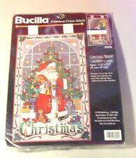 Bucilla Counted Cross Stitch CHRISTMAS ADVENT CALENDAR Kit,Santa,Charms,#83698