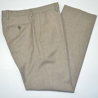 Mint BANANA REPUBLIC Tailored Slim Fit Sharkskin Wool Taupe Dress Pants 31 x 30