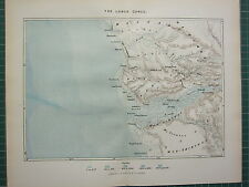 c1890 ANTIQUE MAP ~ THE LOWER CONGO ~ BANANA MA-YOMBE MOU-SORONGO SEA DEPTHS