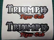 Triumph Tiger Cub decal stickers X2 pair pre 65 trials twinshock bantam