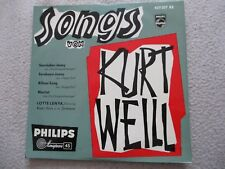 Vinyl7 Lotte Lenya Songs von Kurt Weill German Press EP 1961 sehr gut