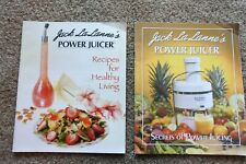 Jack Lalanne'S Power Juicer 2 Books Recipes For Healthy Living & Secrets