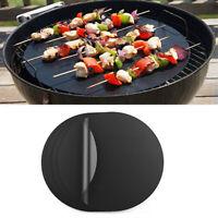 1/2Pcs Reusable Non-Stick BBQ Grill Mats Sheets Baking Bakeware Pad Oven Liner