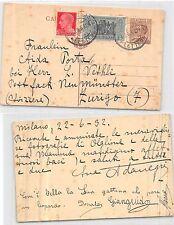 CP AUTOGRAFO POETESSA ADA NEGRI Milano X Scultore Wethli Zurich 1932(R-L 169)