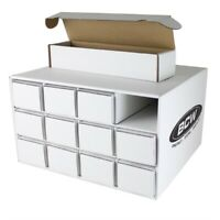 2x BCW Card House Box With 24x 800 Count Corrugated Cardboard Storage Boxes