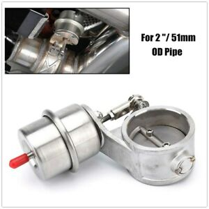 """2"""" 51mm Car Boost Activated Exhaust Cutout Exhaust Control Valve Boost Vacuum"""