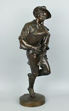 """Large 19"""" Celestin Anatole Calmels (french, 1822-1906) Bronze """"Dancing Bagpiper"""""""