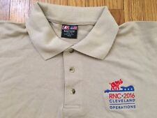 2016 RNC Republican National Convention Polo Shirt Cleveland Donald TRUMP—-Large