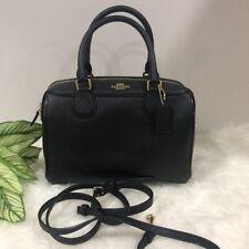 Coach Leather Mini Bennett Satchel Handbag Purse Black F32202