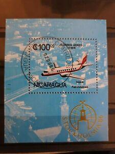 """Nicaragua 1986 Stockholmia 86"""" International Stamp Exhib mini/souvenir sheet CTO"""