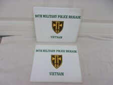 Us Army 18th Mp Brigade Vietnam Award/Certificate Folders-2 Each