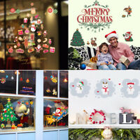 Christmas Removable Decal Wall Window Showcase Stickers Vinyl Art DIY Decor Home