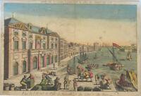 MARSEILLE Hafen Orig. GUCKKASTENBILD Kupferstich um 1780 Segelschiffe Frankreich