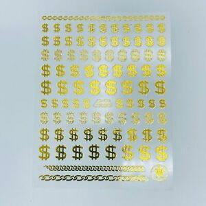 Dollar Sign Sticker - CB-130 Gold