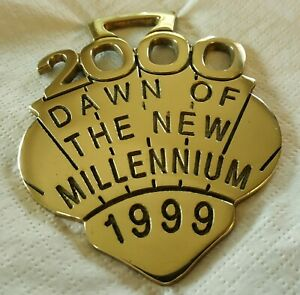 A COLLECTABLE HORSE BRASS - 2000 - DAWN OF THE NEW MILLENNIUM