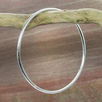 Armreif Silber 925 massiv Bangle Reif rund schlicht Bangles Echt Sterlingsilber
