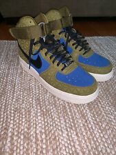 Details about Nike Air Force 1 Hi Premium Suede Olive FlakMidnight Turquoise 845065 300 SZ 10