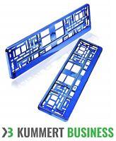 2x Kennzeichenhalter | Blau Hochglanz | Metallic | KLAVIERLACK | DE Versand