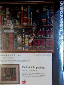 "Cross stitch Kit "" Frederick the Literate "" New by Dimensions"