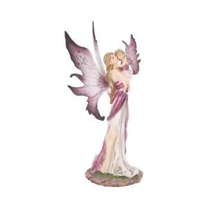 Precious Moments Fairy Figurine Mother Daughter Love Ornament Sculpture Gift