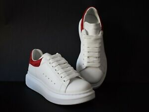 Alexander Mcqueen Shoes Oversized  trainers WHT/RED 39