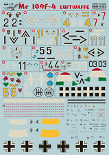 Messerschmitt Bf 109 F-4, Print Scale 72-049, Decals 1/72
