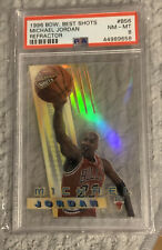 1996 Bowman's Best Shots Refractor Michael Jordan #BS6 PSA 8 NM-MT