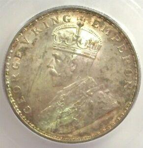 INDIA 1919(c) SILVER RUPEE ICG MS 60 KM 524