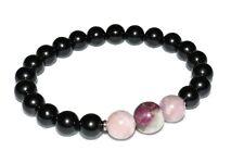Eudialyte Pink Kunzite Black Tourmaline Bracelet Natural Stone Crystal Healing