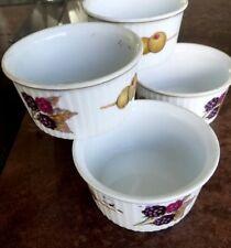 "Five Royal Worcester Evesham Gold 3 1/4"" Ramekin Creme Brulee Cups"