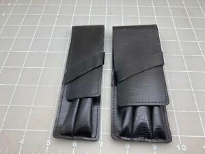 Judd's Lot of 2 Black Leather Parker Pen Cases