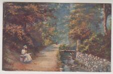 Wales postcard - Colwyn Bay, The Dingle - Oilette 7419 - P/U 1914 (A774)