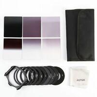 6pcs Full Gradual ND Filter + Adapter Rings Holder Case Cloth Set Kit fo Cokin P