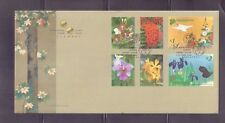 Singapore 2006, Singapore-Japan Joint Issue: Flower, Complete 6V  FDC