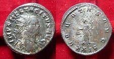 TACITUS, AE silvered Antoninianus. 275/76 Rome, Ubertas w/ purse RARE