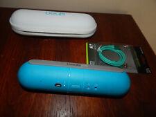 Dr. Dre Beats Pill Bluetooth Speaker.. beautiful blue...w/usb/case