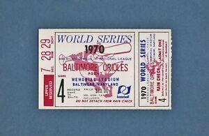 1970 WORLD SERIES Game 4 TICKET STUB - Cincinnati Reds @ BALTIMORE ORIOLES