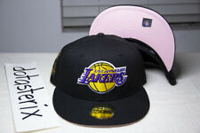 Los Angeles Lakers NBA New Era 5950 Fitted Trophy Pink UV Hat Club Lebron
