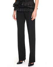 BOTTEGA VENETA  SLIM-LEG CREPE TROUSERS BLACK SIZE IT38 US2 NEW WITH TAGS $750