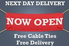 NOW OPEN PVC Banner OUTDOOR SIGN Retail - 1.5m WIDE - NEXT DAY DELIVERY
