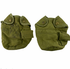 Vintage Military US Canteen Bag Pouch Lot of 2