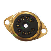 4pc 9Pin Gold Vacuum TUBE SOCKET MOUNT For 12AX7 12AU7 ECC82 ECC83 radio