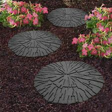 Recycled Rubber Stepping Stone - Cracked Log - Walkway Path Paving SINGLE