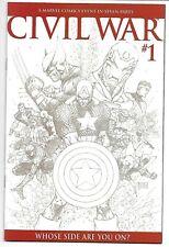 Civil War #1 1:75 Michael Turner Sketch Variant Nm Avengers Spider-Man Marvel