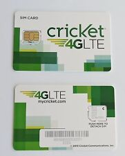 (LOT OF 10) Cricket Micro SIM Cards for CDMA Old Network New wholesale lot